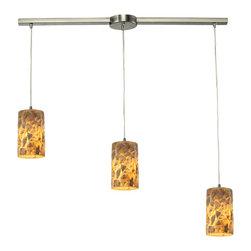 Elk Lighting - Rocklidge Linear 3-Light Chandelier in Satin Nickel - Rocklidge Collection 3 light chandelier in satin nickel