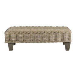 Safavieh - Svana Bench - Create an instant indoor oasis with the rattan Svana Bench. The richly colored mango wood legs are the perfect modern foundation for its natural-toned woven top. Ideal for extra seating, a place to set a drink or a tray with all your treasures, it offers a moment of easy elegance in any room.