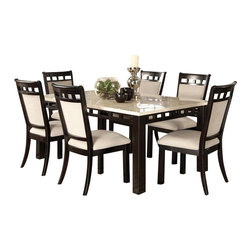 Standard Furniture - Standard Furniture Gateway White 8 Piece Dining Room Set in Dark Chicory Brown - Impressive proportions and bold styling give Gateway Dining a dynamic contemporary personality.