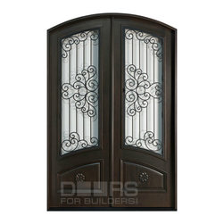 Heritage Collection (Custom Solid Wood Doors) - Custom Front Entry Door -  Double Door - Heritage Collection - Doors For Builders Inc.