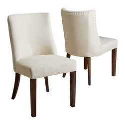 Great Deal Furniture - Rydel Fabric Dining Chairs (Set of 2), Natural Fabric - The Rydel Dining Chairs are a perfect set to bring together any space in your home. They compliment almost any decor for your dining room or can even double as accent chairs for your living room, bedroom, or office. The Rydel fabric dining chairs are casual enough for the traditional to the more modern tastes.