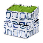 Drawer For Sweater Organizer; (Blue/White) - Honey-Can-Do SFT-01562 2-Pack Drawers For Hanging Closet Organizer, White/Blue Canvas. Designed to fit with 8-Shelf Hanging Organizer SFT-01563 (sold separately), as stand-alone bins on your closet shelves, or for under bed storage. Instantly create an organized space for socks, undergarments, scarves, ties or accessories. They have a handy pull-out, fabric handle for easy access to drawer contents. One item in Honey-Can-Do's mix and match collection of sturdy canvas closet organizers available in several colors, it's a perfect blend of economy, strength, and style.