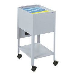Safco - Safco Economy 1 Drawer Mobile Letter Metal Tub File in Gray - Safco - Filing Cabinets - 5360GR - Be a savvy consumer. Be organized. Economy letter size tub keeps important files close at hand. Durable steel construction with piano-hinge top swings out of the way when file are in use. Top viewing design allows easy filing and retrieval of stored documents. Designed to hold letter size hanging file folders (not included). Tub files roll easily to point of use on four swivel casters (two lock).