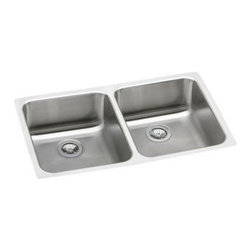 Elkay - Gourmet Lustertone Undermount Sink - ELUH3118 - Manufacturer SKU: ELUH311810. Material: Stainless SteelFaucet Holes: 0Thickness: 18 GaugeCode Compliance: IAPMOSound Deadening: Sound Guard�Number of Bowls: 2Minimum Cabinet Size: 36 in.Sink Dimensions: 30 3/4 in. L x 18 1/2 in. WPrimary Bowl Depth: 10 in.Both Bowl Dim.: 13 1/2 in. x 16 in. x 10 in.Drain Size: 3 1/2 in.
