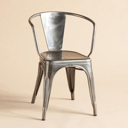 1956 Armchair by Tolix - My all-time favorite chairs. Tolix is the best and their natural finish is dreamy gray!