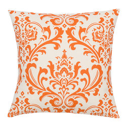 Look Here Jane, LLC - Damask Sweet Potato Natural Pillow Cover - PILLOW COVER