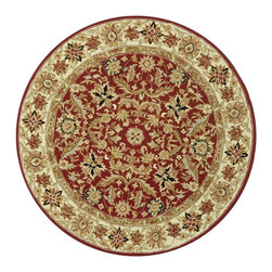 Safavieh - Safavieh Chelsea Country & Floral Hand Hooked Wool Rug X-212-A751KH - 100% pure virgin wool pile, hand-hooked to a durable Cotton backing. American Country and turn-of-the-century European designs. This collection is handmade in China exclusively for Safavieh.