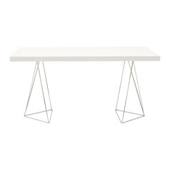 "Temahome - Multi 63"" Tabletop with Trestles - From dining space to workspace, this distinctive table gives you easy elegance and eye-catching design. Airy but sturdy, simple but striking, it's a study in contrasts, harmoniously combined."