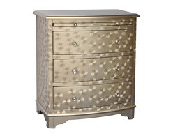 Starfield Champagne 3 Drawer 1 Pull Shelf Accent Chest - Starfield Champagne 3 Drawer 1 Pull Shelf Accent Chest