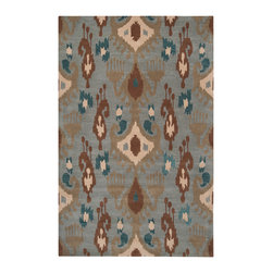 """Surya - Surya Matmi MAT-5409 (Stormy Sea) 3'3"""" x 5'3"""" Rug - Unique is the only word to describe the Surya Matmi collection. Covered in individualistic patterns and bright, vivid colors, these rugs are unlike any other you have ever seen. Hand tufted from 100% wool, the softness and durability is just a bonus to these amazing rugs."""
