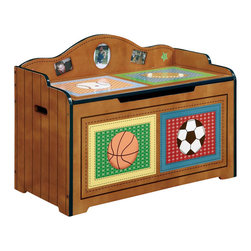 Teamson Design - Teamson Kids Little Sports Fan Toy Chest - Teamson Design - Toy Boxes and Chests - TD0019A. Has your child's toys gotten out of hand and cant find any place to store them? A great addition to a kids room is our toy chest where there's lots of space to keep toys in and still make their room look well organized and well decorated.