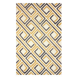 nuLOOM - Contemporary 5' x 8' Sunflower Hand Hooked Area Rug UZB46 - Made from the finest materials in the world and with the uttermost care, our rugs are a great addition to your home.