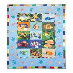 Patch Quilts - Ocean Schools Queen Quilt - -Constructed of 100% Cotton  -Machine washable; gentle dry  -Made in India Patch Quilts - QQOCSH