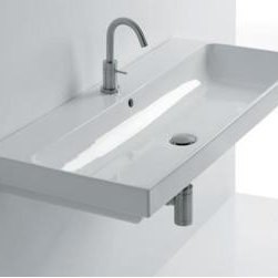 Hastings - Hastings - Normal Wall-Hung Semi-Recessed/Above-Counter Basin-WS11101F - W/ Overflow, 60 cm, Shipping Weight: 50 lbs