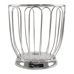 Alessi - Alessi Citrus Basket Medium - Known for his wire work, designer Ufficio Tecnico Alessi has created the perfect citrus basket for your kitchen counter, in mirror polished stainless steel. This sleek receptacle will look so tasteful, filled with bright fruits from your garden or grocer.