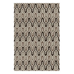 "Surya - Surya Fallon FAL-1106 3'6"" x 5'6"" Winter White, Driftwood Rug - From delicate lattice patterns to boldly colored chevron patterns the Fallon Collection makes a statement in flat weave; from creator Jill Rosenwald known for her beautifully colored, hand-made ceramics. The Fallon Collection's patterns and the hand woven flat weave construction beautifully combine to highlight its simplicity and sophistication. Fresh and fun patterned rugs with strong designer color palettes."
