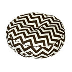 Greendale Home Fashions 20-Inch Round Floor Pillow Zig Zag fabric - Fun floor cushions to add to the relaxing part of picnicking.
