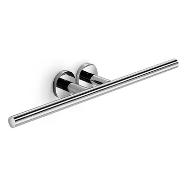 WS Bath Collections - Napie Bathroom Double Towel Rail in Polished - Made by Lineabeta of Italy. Product Material: Polished Chrome. Dimensions: 3.5 in. W x 19.7 in. L x 2.4 in. H