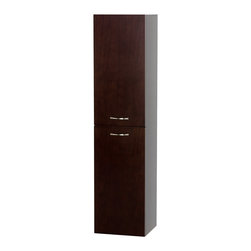 Wyndham Collection - Accara Wall-Mounted Bathroom Storage Cabinet in Espresso - Meet another stunning Wyndham Collection exclusive - the Accara Bathroom Wall Cabinet. The unique styling gives the Accara Bathroom Wall Cabinet a beautiful look, allowing the overall design and beauty to make an incredible statement in your bathroom. Never hear the door slam shut again with the included softclose hinges.