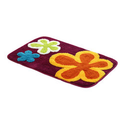 Blancho Bedding - Naomi - Dancing Flowers - Violet Red Kids Room Rugs  19.7 by 31.5 inches - This product features an attractive pattern that traps moisture and dirt. The tufted construction has a rich look and feel, and extraordinary texture offers warms, comfort, and versatility. The rear side of the product is covered by natural latex to prevent slipping. Suitable for your living room, bedroom, bathroom and the office. Machine washable and easy to clean. This stylish rug is sure to add a touch of whimsy to any room in your home.