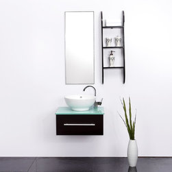 Modern bathroom furniture - Luxdream - 1): wooden construction with 6-stage painting and finishing process.