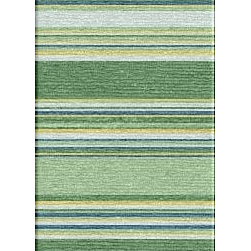 Jaipur Rugs - Flat Weave Stripe Pattern Blue Wool Handmade Rug - CC07, 2.6x8 - Fashion-forward color and a soft texture highlight the relaxed sophistication of the Coastal Living Dhurries Collection. Ideal for any casual lifestyle, the boldly striped, flat-woven pieces are easily cleaned - ideal for lounging after a day spent at the beach.