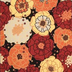 Nourison - Home And Garden 10' x 13' Rectangle Contemporary - Home & Garden RS021-Black 10 x 13