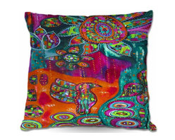 DiaNoche Designs - Pillow Woven Poplin - Spring Forth - Toss this decorative pillow on any bed, sofa or chair, and add personality to your chic and stylish decor. Lay your head against your new art and relax! Made of woven Poly-Poplin.  Includes a cushy supportive pillow insert, zipped inside. Dye Sublimation printing adheres the ink to the material for long life and durability. Double Sided Print, Machine Washable, Product may vary slightly from image.
