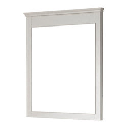 """Avanity - Windsor 30"""" Mirror - White - The Windsor 30 in. X 36 in. birch framed mirror features a white finish with simple lines. It matches the Windsor vanities for a coordinated look and includes mounting hardware that makes leveling easy. The mirror can be hanged vertically."""