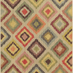 Tommy Bahama Area Rugs - Cabana 8022W Multi-Color Rectangular: 5 Ft. 3 In. x 7 Ft. 6 In. Rug - - The Cabana collection from Tommy Bahama Home features a line of area rugs beautiful enough for the indoors but durable enough to bring its beauty outdoors. The line boasts an 8-color spaced dyed loop pile for added texture, depth and dimension. Featuring a sophisticated color palette in traditional to global designs, Cabana is the perfect addition to any indoor or outdoor space.  - Construction: Machine Woven  - Material: Polypropylene  - Care Instructions: Spot clean with water and mild soap  - Primary Pattern: Geometric  - Pile Height in Inches: 0.31  - Country of Origin: Egypt Tommy Bahama Area Rugs - 748679393749