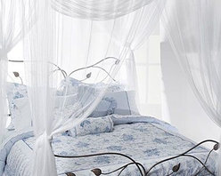 Yungjohann Hillman,inc Dba Mombasa - Majesty White Large Bed Canopy - Bed canopy brings you back in time. Canopy hangs easily with included top-loops from a ceiling or four poster bed since no frame is necessary.