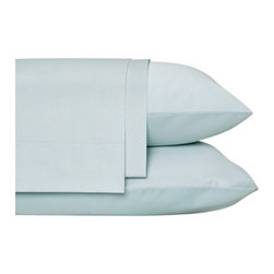 Nine Space - Striped Sheet Set, King, Frost Blue - Dress the bed in luxurious softness with these tonal-striped bamboo sheets. Offering an ecofriendly alternative softer than cotton, the silky feel of cashmere  and bamboo is thrown in for a good night's rest, making it a natural choice for bedding linens. 300 thread count.