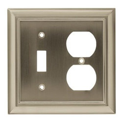 Liberty Hardware - Liberty Hardware 64171 Architectural WP Collection 4.96 Inch Switch Plate - Sati - A simple change can make a huge impact on the look and feel of any room. Change out your old wall plates and give any room a brand new feel. Experience the look of a quality Liberty Hardware wall plate.. Width - 4.96 Inch,Height - 4.9 Inch,Projection - 0.2 Inch,Finish - Satin Nickel,Weight - 0.37 Lbs