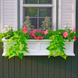 Fairfield Window Box or Freestanding Planter - Brighten up the look of your home with a beautiful window box full of colorful flowers. The Fairfield Window Box Planter includes mounting brackets.