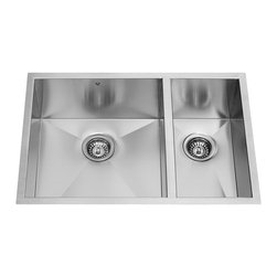Vigo - Vigo 29-inch Undermount Stainless Steel 16 Gauge Double Bowl Kitchen Sink - The Vigo undermount kitchen sink complements any decor and is highly functional. Every design detail is featured in this sink to meet your needs.
