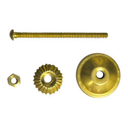 Knobco - Screws And Fitting, Brass Polished - Brass Polished Screw Set of 5 pcs for Knob Installation