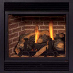 Majestic Products - Majestic 400DVBHNSC7 DVBH Series Direct Vent Gas Fireplace - The Majestic 400DVBHNSC7 DVBH series direct vent gas fireplaces part of Majestic's full line of products to complete your fireplace or stove. The 400DVBHNSC7 model from Majestic's DVBH series has a superior efficiency AFUE Rating of up to 71%, an exclusive full-featured command center and touchscreen, and a flush faced design for maximum viewing area in confined spaces. It also features custom style accessories to help you create a unique look for any room, and the natural flame burner system with aluminized pan burner for life-like flames. This model features natural gas operation for easy installation, and a heating capacity of up to 1,200 square feet of room. Majestic has been serving in the production of quality fireplaces, stoves, log sets, and outdoor accessories for over 50 years, and offer a wide range of beautiful styles, sizes, and trims.