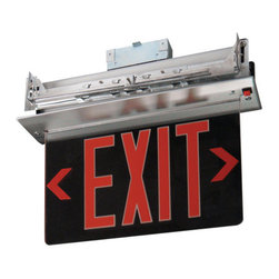 Elco - Elco EDGREC1 Energy Star Single Face Recessed Transparent Edge Lit LED Exit Sign - Elco EDGREC1 Energy Star Single Face Recessed Transparent Edge Lit LED Exit SignElco Lighting�s high quality, affordable Exit and Emergency fixtures provide a variety of different styles and benefits designed to meet the requirements of any application. Dual voltage options (120 and 277 VAC), brown-out activation (unit automatically switches to emergency mode if supply voltage drops below 80%), automatic low-voltage disconnect, thermal protection, short circuit protection and reverse polarity protection are just a few of the important standardized features of these products.