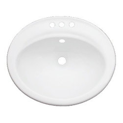"TCS Home Supplies - Porcelain Ceramic Vanity Drop In Bathroom Vessel Sink - 22-1/4 x 19 x 8 Inch - Drop In Bathroom Vessel Sink. Porcelain Ceramic. Dimensions 22-1/4"" x 19"" x 8 ""."