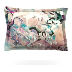 """Kess InHouse - Mat Miller """"Fluidity"""" Pillow Sham (Cotton, 40"""" x 20"""") - Pairing your already chic duvet cover with playful pillow shams is the perfect way to tie your bedroom together. There are endless possibilities to feed your artistic palette with these imaginative pillow shams. It will looks so elegant you won't want ruin the masterpiece you have created when you go to bed. Not only are these pillow shams nice to look at they are also made from a high quality cotton blend. They are so soft that they will elevate your sleep up to level that is beyond Cloud 9. We always print our goods with the highest quality printing process in order to maintain the integrity of the art that you are adeptly displaying. This means that you won't have to worry about your art fading or your sham loosing it's freshness."""