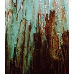 Sea Foam Fall (Original) by Ashley Villegas - Sophisticated splash of color