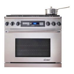 """Dacor Discovery 36"""" Freestanding Dual Fuel Range, Stainless Steel 