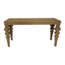NOIR - NOIR Furniture - Turn Leg Ismail Console - GCON152 - Features: