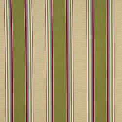 Green Blue And Red Striped Indoor Outdoor Marine Upholstery Fabric By The Yard - This upholstery grade fabric can be used for all indoor and outdoor applications. It is Scotchgarded, and is mildew, fade, water, and bacteria resistant. This fabric is made in America!