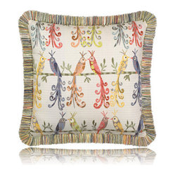 lovebirds fringed pillow (20x20)