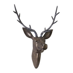 IMAX CORPORATION - Goodwin Aluminum Deer Head - Goodwin Aluminum Deer Head. Find home furnishings, decor, and accessories from Posh Urban Furnishings. Beautiful, stylish furniture and decor that will brighten your home instantly. Shop modern, traditional, vintage, and world designs.