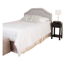 Great Deal Furniture - Celina Queen/Full Headboard, Light Grey - The Celina headboard is a great piece to add elegance to your bedroom. You can spruce up the look of any queen or full metal frame bed with this headboard.