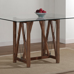 None - Cable Grey Oak Finished Dining Table - Add a stylish touch to your dining room with this grey oak-finished table from Cable. A tempered glass top completes this durable and versatile table.