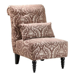 Home Decorators Collection - Lainey Tufted Slipper Chair - A great accent chair can complete the design of your home. The Lainey Tufted Slipper Chair is a solid design with lovely, textured pattern upholstery. Choose from two fabric color schemes. Weighs 42 pounds. Expertly crafted of quality wood materials for years of lasting use.