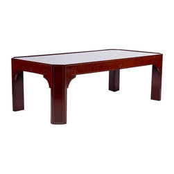Red Lacquer Chinese Style Coffee Table - $6,453 Est. Retail - $2,500 on Chairish -